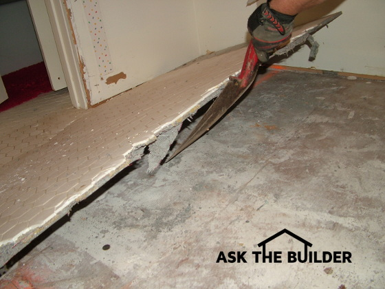 Removing Ceramic Tile Is Easy AsktheBuildercom - Best chisel for removing tile