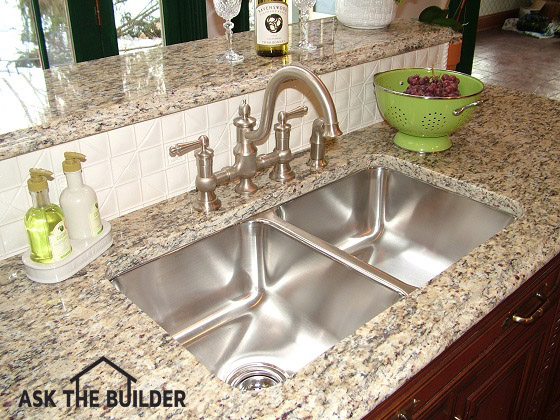 Undermount Kitchen Sinks - Undermount Kitchen Sinks - Ask The BuilderAsk The Builder