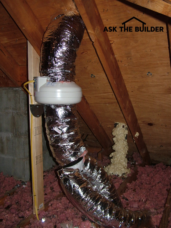 Bathroom exhaust fans ask the builder for Bathroom venting into attic