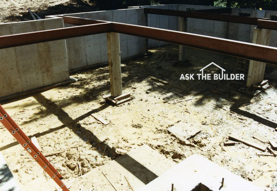 Use residential steel beam for great support taller is for Steel beam house plans