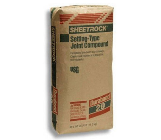 Sheetrock setting type joint compound
