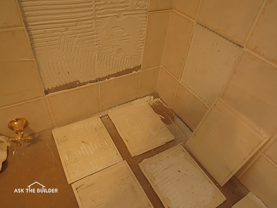 Tile falls off wall ask the builderask the builder for Fall in shower floor