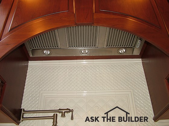 Kitchen Exhaust Fan Ducting Must Be Right | AsktheBuilder.com