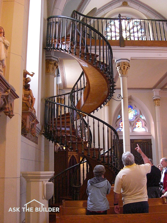 The Owners Of This Staircase Want You To Believe Itu0027s A Miracle That It  Doesnu0027t Collapse Because Of A Lack Of A Visible Support.