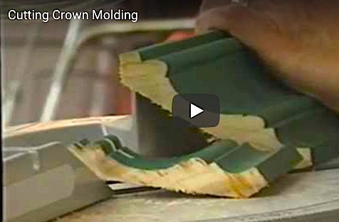 Cutting Crown Molding Inside Corner Is Easy