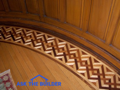 hardwood floor fancy inlay