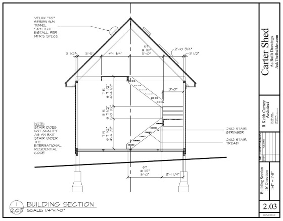 shed plan section
