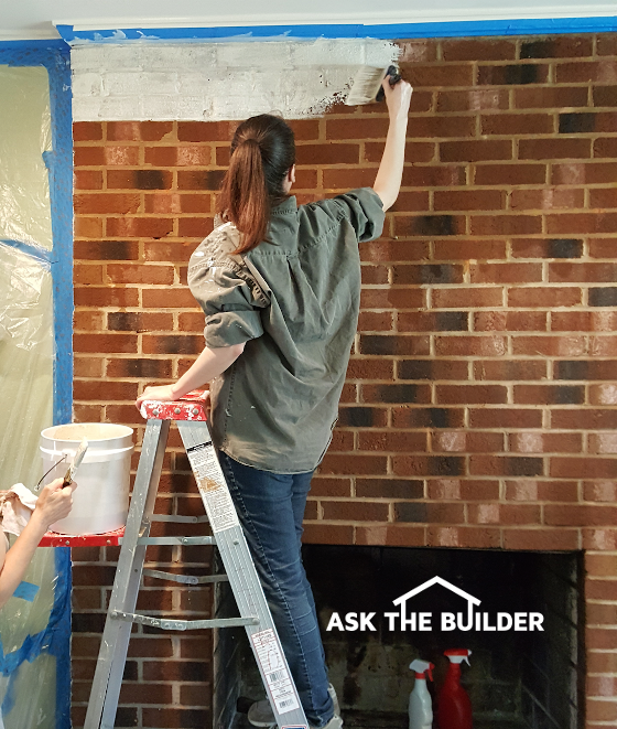 Whitewash brick use lime not paint secret recipe for Ask the builder