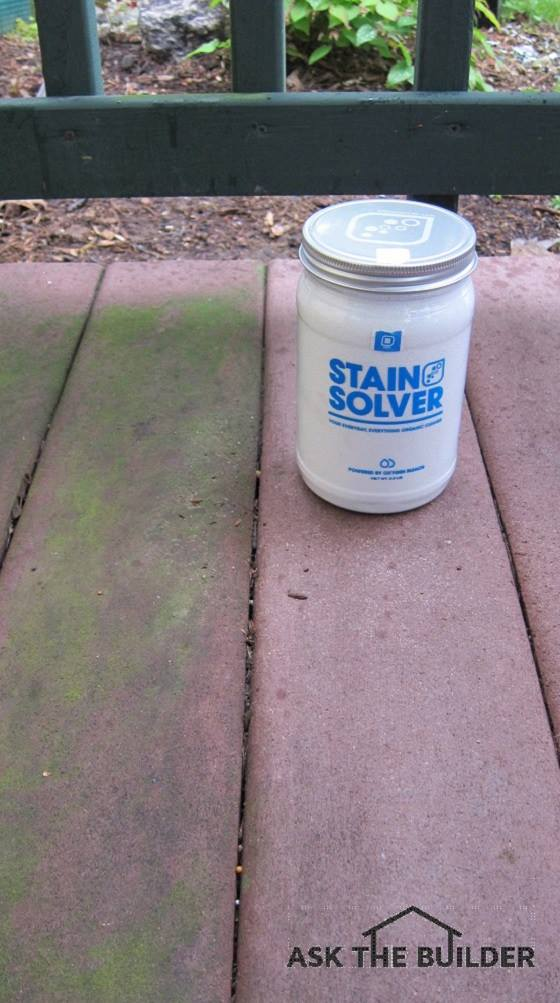 Oxygen Bleach Was Used To Remove The Algae From Decking Boards On Right Photo Credit Tim Carter