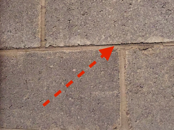 Cracked block foundation repair ask the builder for Poured concrete foundation cracks