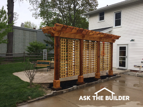 This Is A Stunning Pergola For A Small Patio Built With Advice From Tim  Carter, Founder Of AsktheBuilder.com. CLICK HERE To Get FREE U0026 FAST BIDS  From Local ...