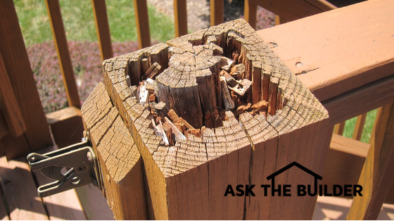 Treated lumber rotting ask the builder for Ask the builder