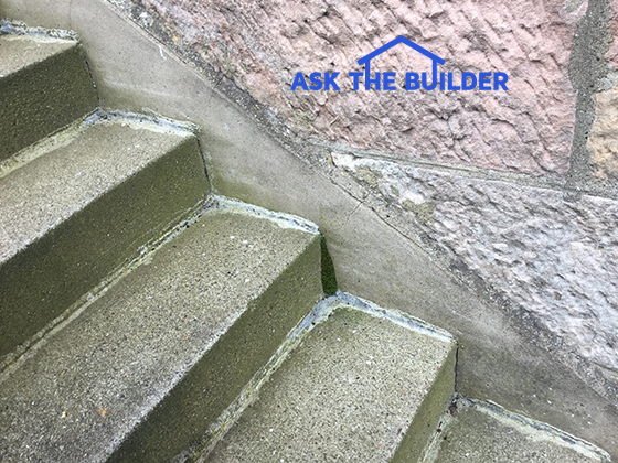 Concrete steps leaking ask the builder for Ask the builder