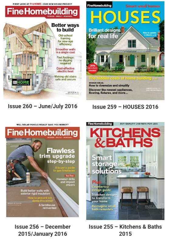 fine homebuilding magazine covers
