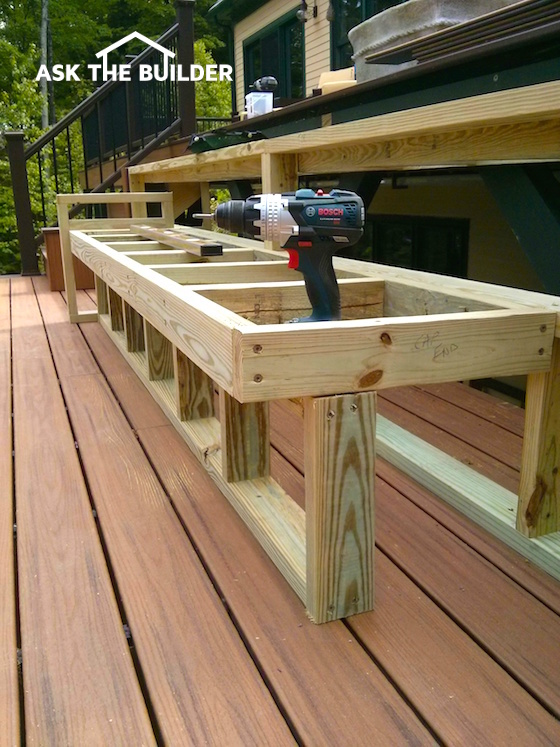 Deck Bench Seating Adds Flair Utility | AsktheBuilder.com