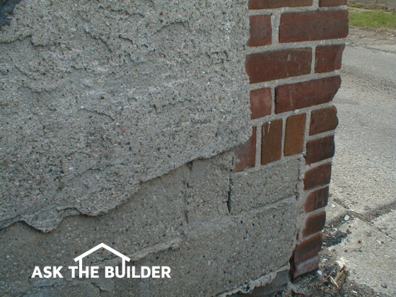 Cement stucco foundation finish ask the builder - Different exterior wall finishes ...