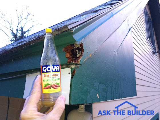 Here S Where The Devil Wood Was Munching On My House See Aluminum Sheet Behind Bottle You Should Size Of Hole He Created Two