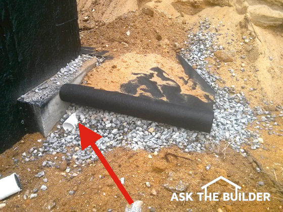 Foundation waterproofing drain tile go hand in hand for Exterior drain tile installation