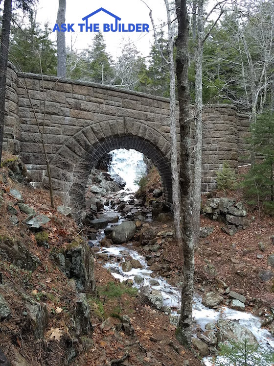 waterfall bridge acadia np
