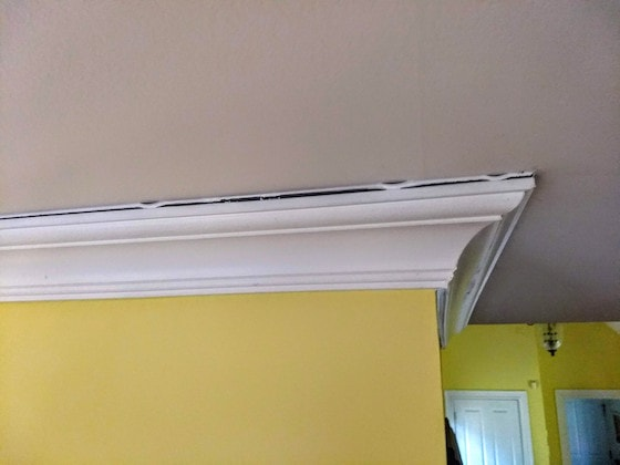 Crown Molding Gap At Ceiling Nail Molding To Ceiling Not Wall