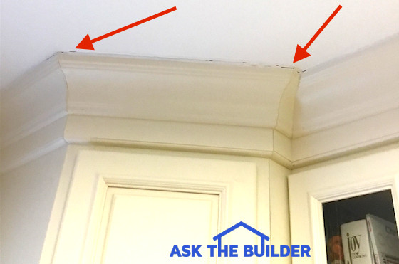 Crown Molding Gap At Ceiling Nail Molding To Ceiling Not