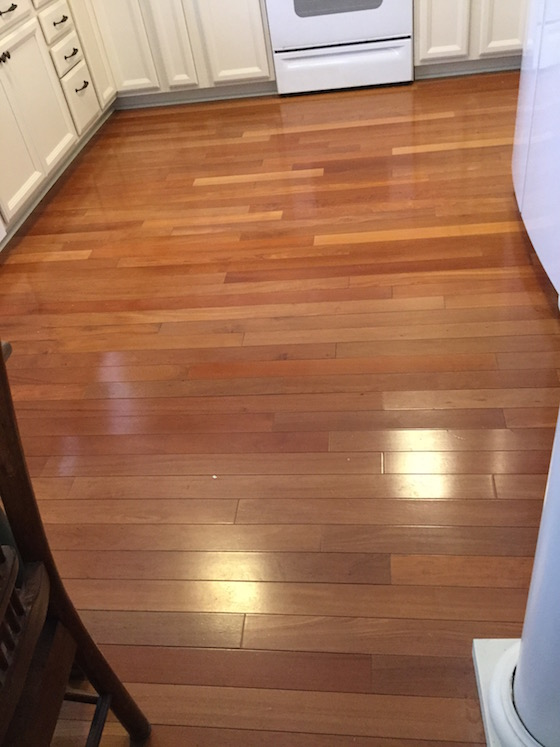 wood kitchen floor