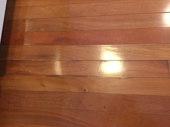 water damaged wood floor
