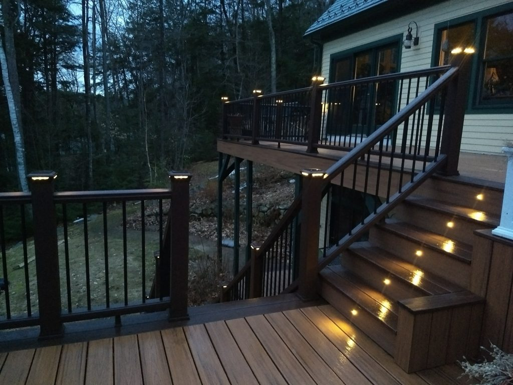 Lighting Basement Washroom Stairs: Trex Lighting After Dark Tim's Deck