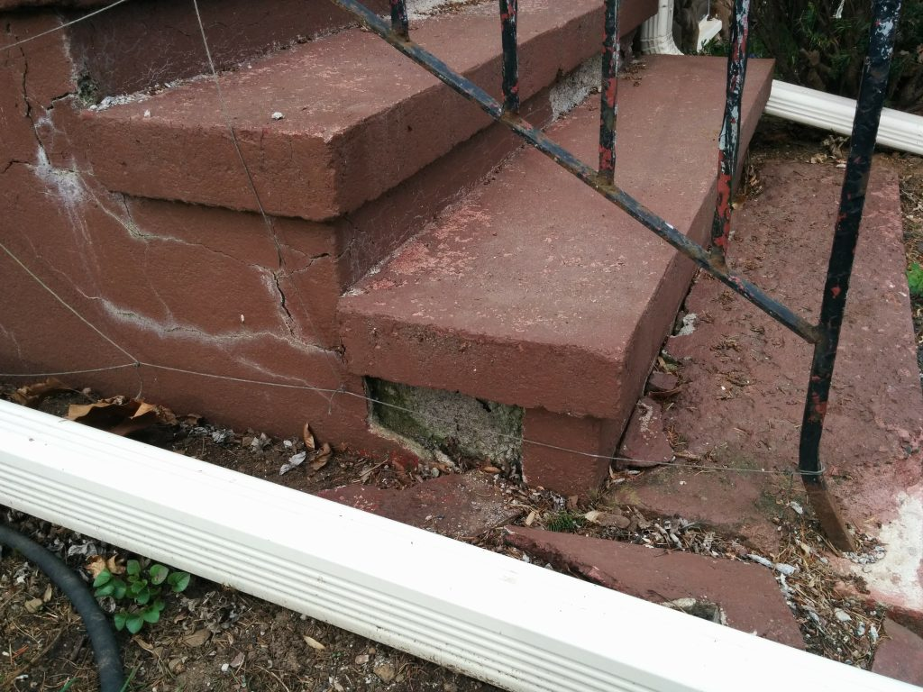 concrete step repair