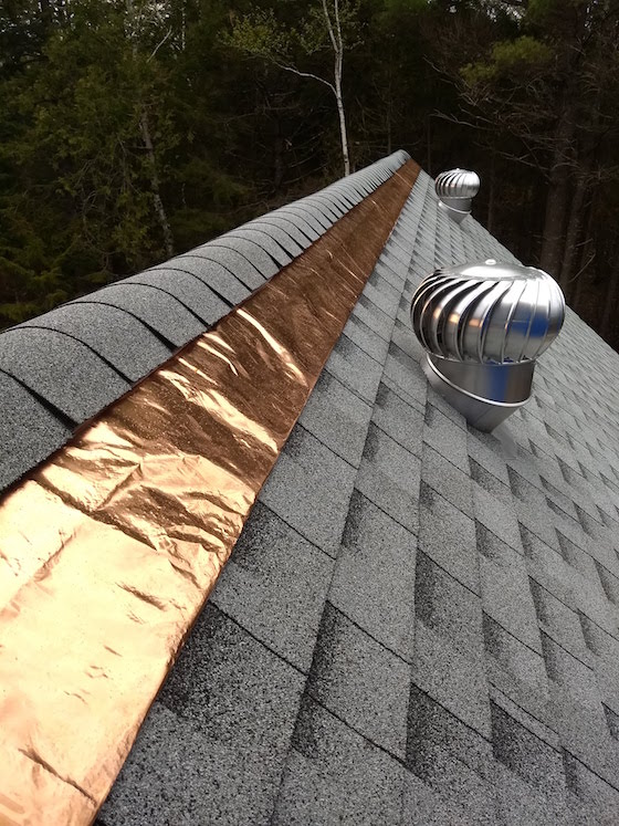 copper roof strip