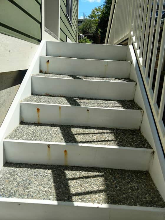 rust staircase