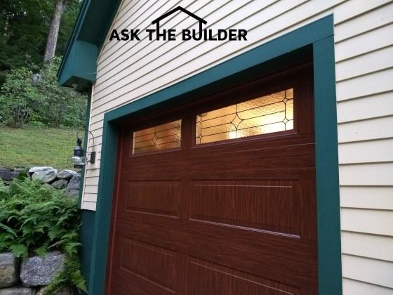 bi-directional wood grain insulated steel garage door