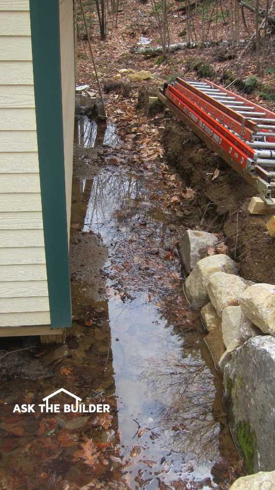standing water around shed