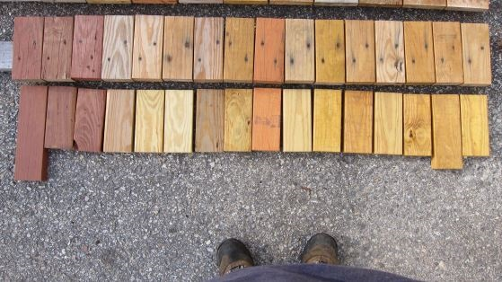 Deck Stain Test Samples
