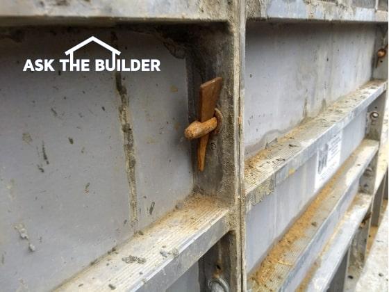 concrete foundation forms
