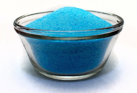 bowl of copper sulfate
