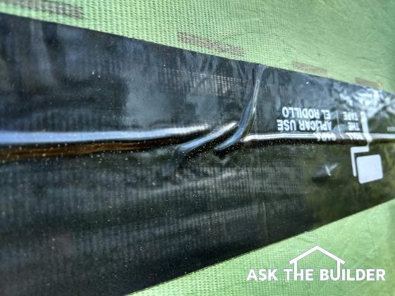 zip system flashing tape leak