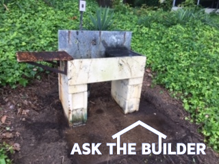 outdoor stone sink