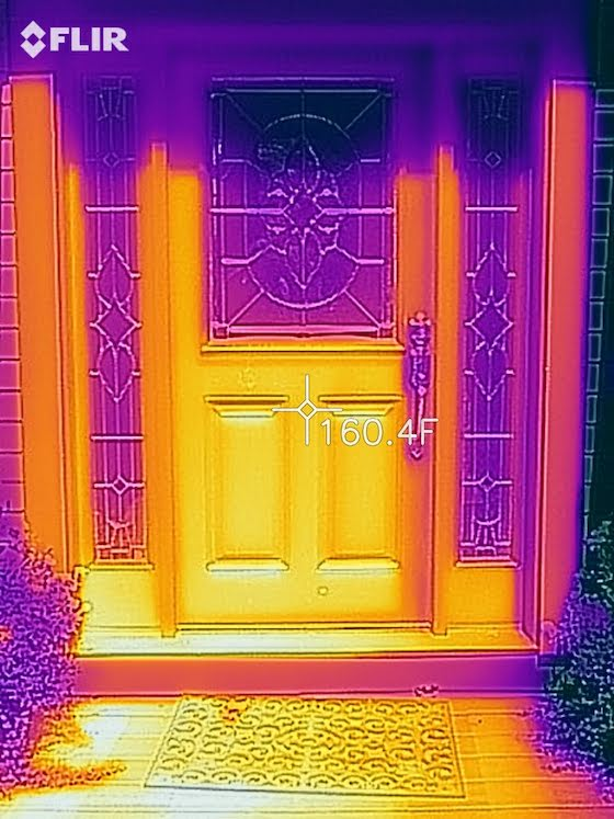 infrared fiberglass door photo