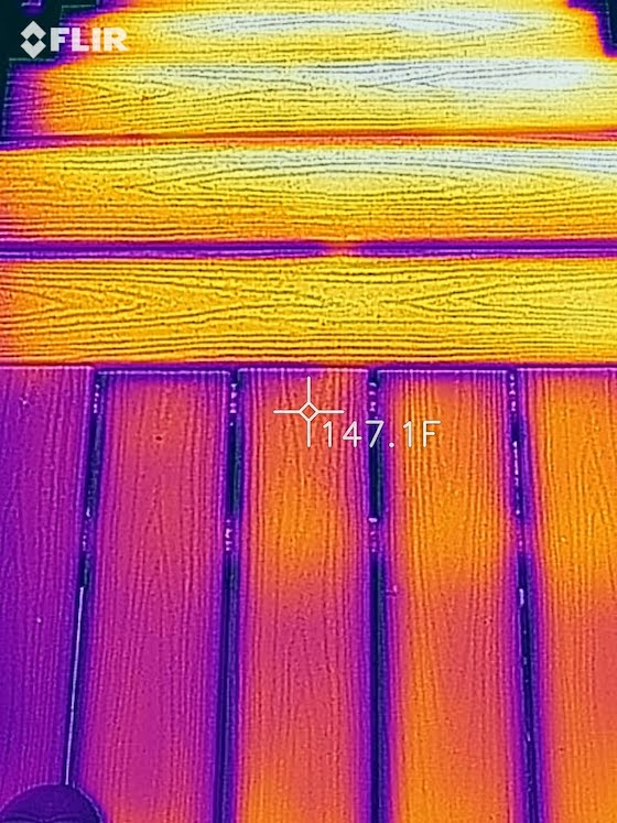 infrared Trex Transcend composite decking photo