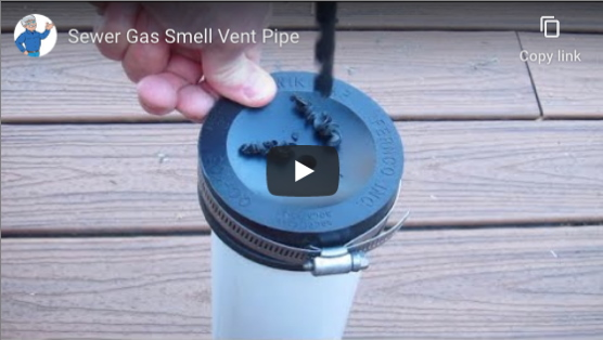 sewer gas smell vent pipe