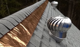 Copper Roof Strips Shingles