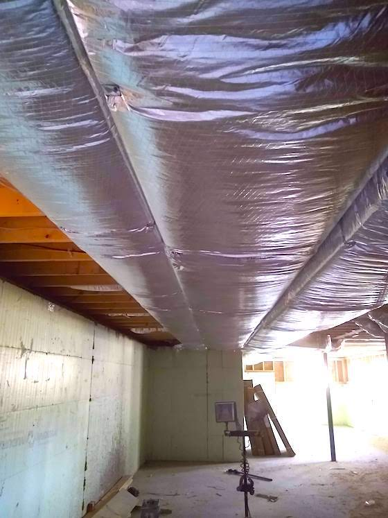 insulate basement ductwork
