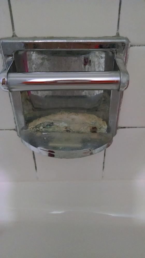 replace shower soap dish