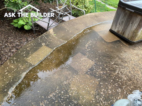 Fixing Puddles on Patios, Driveways, and Slabs