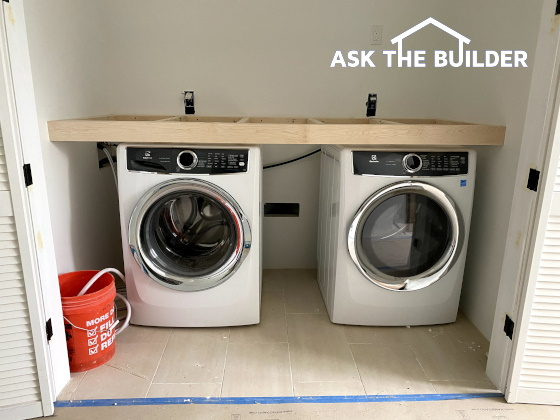 Washer & Dryer with top