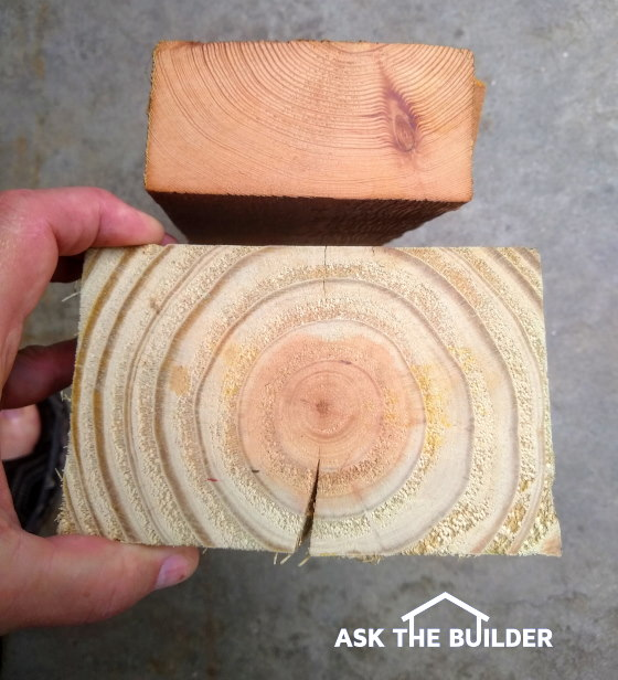 Old Lumber vs New Lumber End View