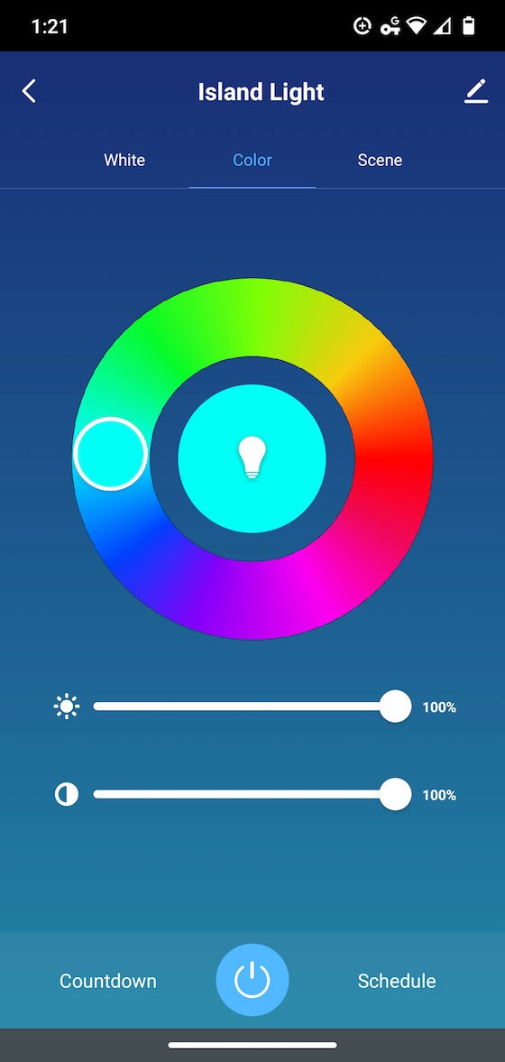 peace app color bulb