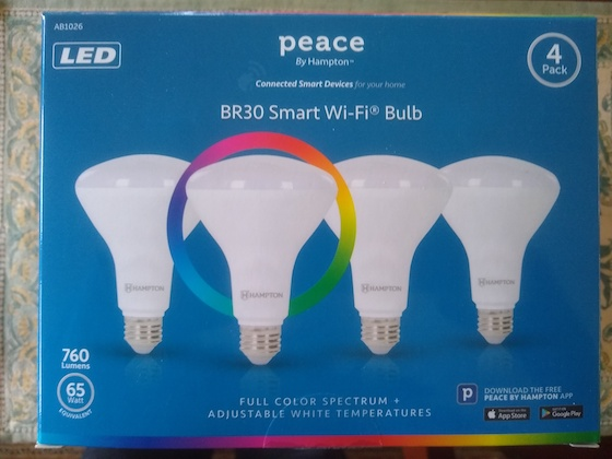 Peace LED recessed bulbs
