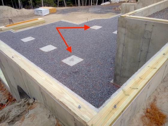 concrete footing pad